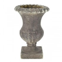 URN-FAUX CEMENT FOOTED
