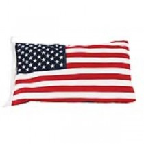 "American Flag Pillow 27""L x 16"