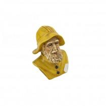 BUST-Ceramic Sea Captian W/Yellow Rain Hat & Coat
