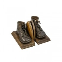 BOOK ENDS/PR BRONZE BABY SHOES