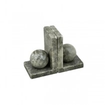 BOOKEND-L Shape Marble W/Marble Sphere (Pair)