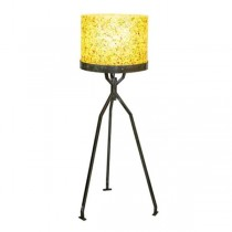 FLOOR LAMP-70's Retro Yellw Speckled Plastic
