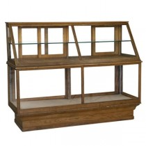 DISPLAY CASE-Vintage Oak Bakery Display Case