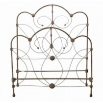 BED-FULL-IRON/BRASS-CURVED TOP