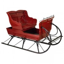 Sleigh-Life Size Red & Black Rails