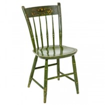 CHAIR-SIDE-GREEN-GOLD FLORAL D