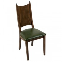CHAIR-Dining room Side W/Green Vinyl Seat