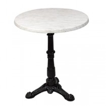 TABLE-CAFE-FAUX MARBLE-IRON BA