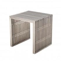 """TABLE-END-METAL-SLATS-16X16""""H"""