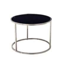 TABLE-END-SILVER BASE-BLACK TO