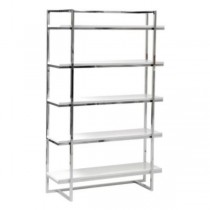 SHELVES-WHITE GLOSS 5 SHELF