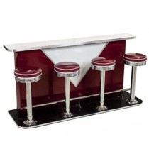 Diner/Counter-Retro w/4 stools