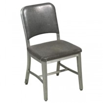 CHAIR-A/L Office Chair-Metal Frame W/Gray Vinyl Seat & Back