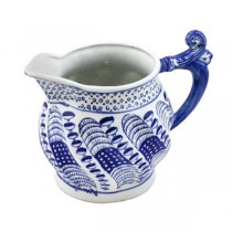 "Pitcher-6""H Blu/Wht Ceramic"