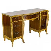 DESK-Ornate 2 Toned-7 Drawer