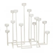White 14pc Candle Holder
