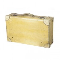 SUITCASE- Pale Yellow Worn