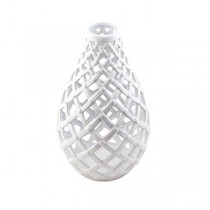 VASE- White Lattice