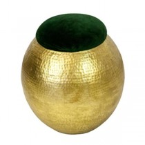 Stool-Hammered Gold W/Green