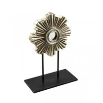 Sculpture-Sliver Flower W/Base
