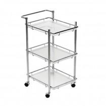 3 Tier Cart Chrome/Frost Shelf
