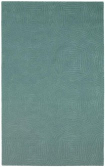 Rug-Teal Consentric Squares