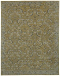 Persian Rug-Gold/Grey Feathers