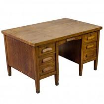 Oak Teachers Desk/6 Drawer