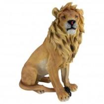 Statue-Sitting Lion/W/Mane
