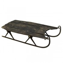 Antique Sled (Brown Wood)