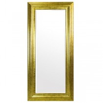 Traditional Gold Floor Mirror