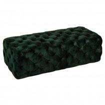 Bench-Emerald Tufted Velvet