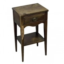 NIGHT STAND- Single Pull/Lower Shelf-Traditional/Cherry Wood