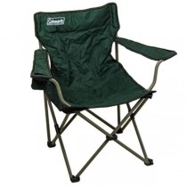 FOLDING CHAIR-Colman-Green Nylon W/Metal Frame