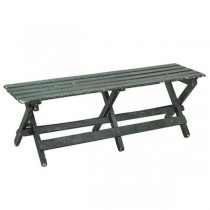 BENCH-Slatted-Greenish-Gray Color-Rustic