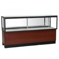 DISPLAY CASE-Wood Laminate Base W/Glass Top