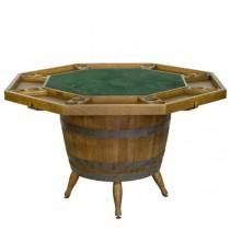 TABLE-Vintage Barrel Based Game Table