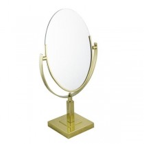 VANITY MIRROR-Table Top Brass Oval