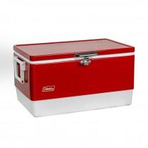 COLEMAN VINTAGE COOLER-(Large) Red & White