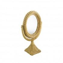 MIRROR-Wicker Vanity Mirror