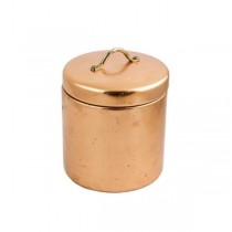 CONTAINER-w/Lid-Copper Plated-Med