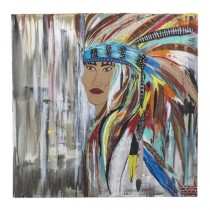 PAINTING-Indian in Full Headdress