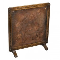 SCREEN-FIRE PLACE/Leather Embossed Tree