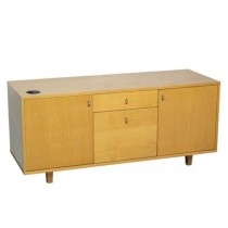 OFFICE CONSOLE-Clear Maple W/(2)Drawers & (2)Doors