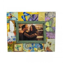 PICTURE FRAME-Multi Colored w/Butterflies