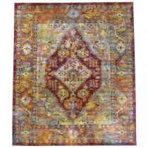 RUG-(9'x 12') Transitional Antiquity W/A Distressed Fushia Patina