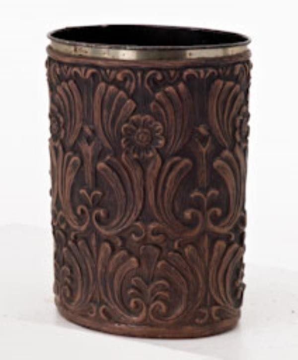 "WASTEBASKET-14""-BROWN PLASTIC-"