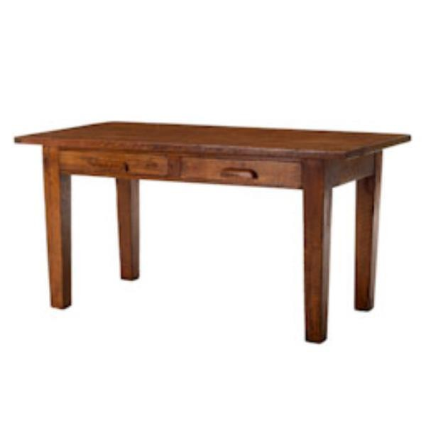 LIBRARY TABLE-Oak W/(2)Drawers
