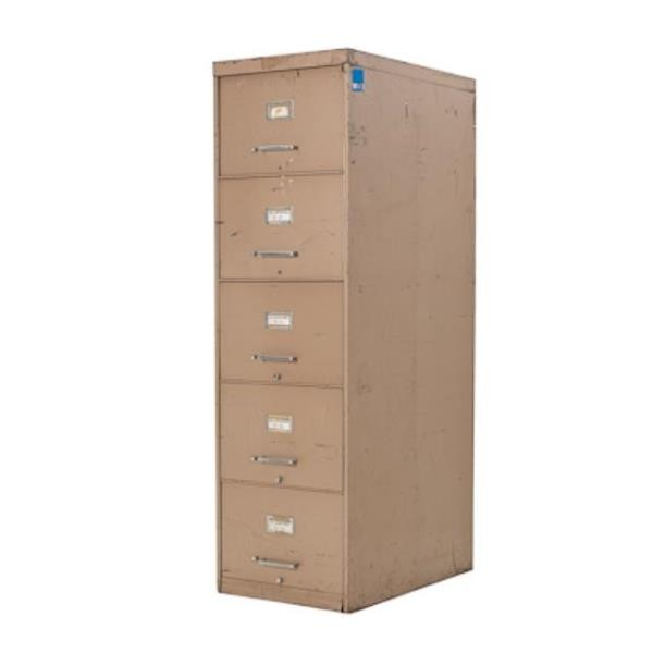 FILE CABINET-TAUPE-5 DRAWER