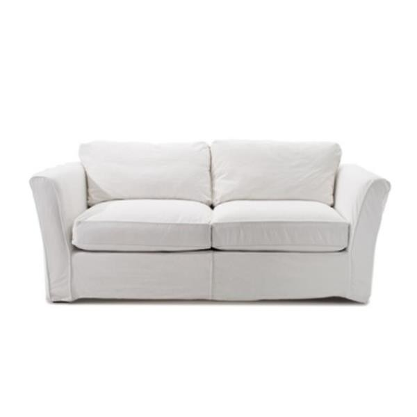 SOFA White Denim/High Arm/2 Cushion Sofa
